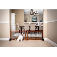 Carlson 2-in-1 Free Standing Premium Hardwood with Black Accents Wooden Pet Gate