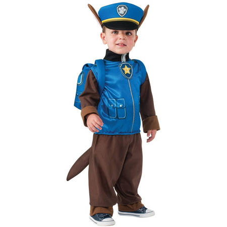 Paw Patrol Chase Boys Halloween Costume](Family Of 3 Halloween Costumes 2017)