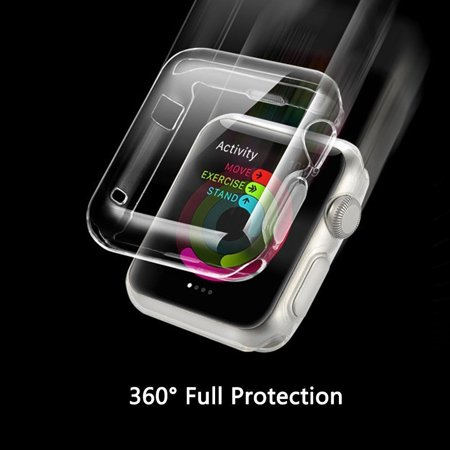 Apple Watch iWatch Series 1- 42MM Clear Case Premium Crystal Clear TPU Full Case AmazingForLess ()