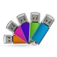 KOOTION 5 Pack 8GB USB 2.0 Flash Drive Thumb Drives Memory Stick, 5 Mixed Colors: Blue, Purple, Pink, Green, Orange