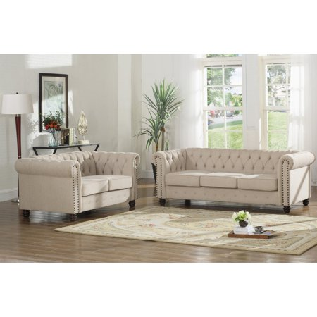 Canyon Sofa Sets (Best Master Furniture Venice 2 Piece Upholstered Sofa Set )