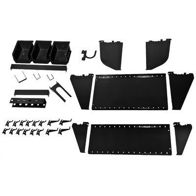 Slotwall Accessory - Wall Control Slotted Tool Board Workstation Accessory Kit for Wall Control Pegboard and Slotted Tool Board Only – Black