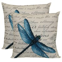"""Mainstays Outdoor Toss Pillow, 16"""" x 16"""", Dragon Country - Set of 2"""