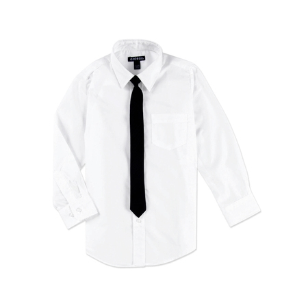 George Boys Packaged Dress Shirt with Black
