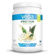 Vega Plant Protein & Greens Powder, Vanilla, 20g Protein, 1.1 Lb