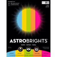 """Astrobrights Color Paper, 8.5"""" x 11"""", 24 lb/89 gsm, """"Bright"""" 5-Color Assortment, 100 Sheets"""