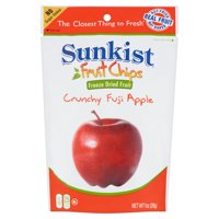 (3 Pack) Sunkist Fruit Chips, Crunchy Fuji Apple, 1 Ounce