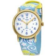 62d1aff4d Women's Weekender Watch, Blue Swirl Nylon Slip-Thru Strap