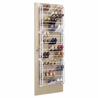 Whitmor 36-Pair Over the Door Shoe Rack White