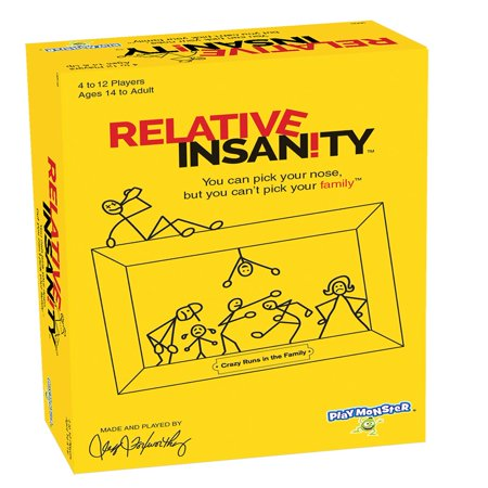 Relative Insanity Board Game - Adult Carnival Games