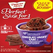 Duncan Hines Perfect Size for 1 Chocolate Lovers Cake Multipack 10 ct