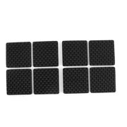 Unique Bargains 8 Pcs Rubber Square 38mm X Self Adhesive Chair Foot Cover Table