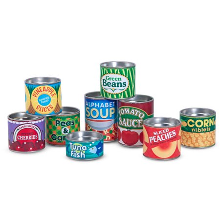 Melissa & Doug Let's Play House! Grocery Cans Play Food Kitchen Accessory, 10 Stackable Cans with Removable - Doug Doug's Halloween Adventure