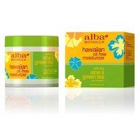 Alba Botanica Hawaiian Oil-Free Moisturizer, Aloe & Green Tea, 3 oz. []