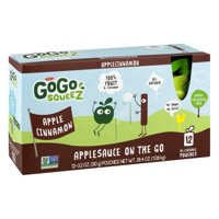 GoGo squeeZ Apple Cinnamon Applesauce On The Go, 12 ct