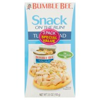 (6 Kits) Bumble Bee Snack on the Run! Tuna Salad with Crackers, 3.5 oz