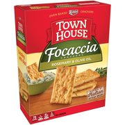 Keebler Town House Focaccia Rosemary & Olive Oil Crackers 9 oz. Box