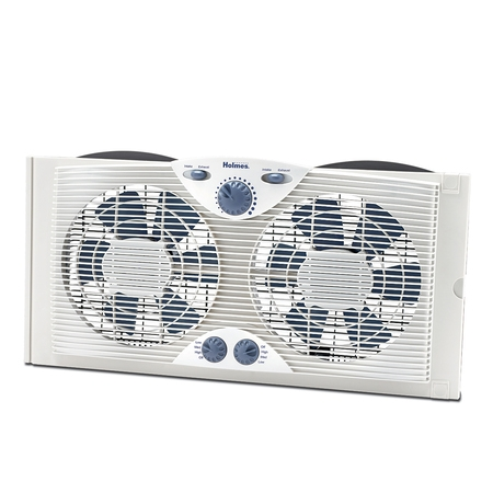 Roof Exhaust Fans - Holmes Dual Blade Window Fan with Comfort Control Thermostat (HAWF2041-N)