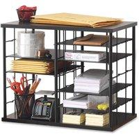 Rubbermaid, RUB1738583, 12-Slot Compartment Organizer, 1 Each, Black