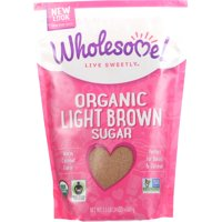 (2 Pack) Wholesome Live Sweetly Organic Light Brown Sugar, 24 oz