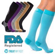 282d4d051 Compression Socks for Men   Women - Graduated Knee-High compression  Stockings relieve calf