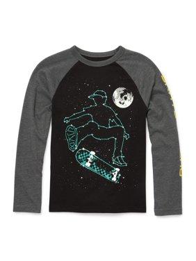 Long Sleeve Graphic Raglan Tee Shirt (Little Boys & Big Boys)