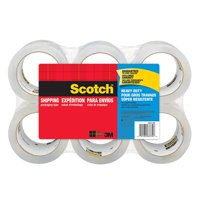 Scotch Packaging Tape Heavy Duty Shipping, 1.88 in x 54.6 yd, 6/Pack