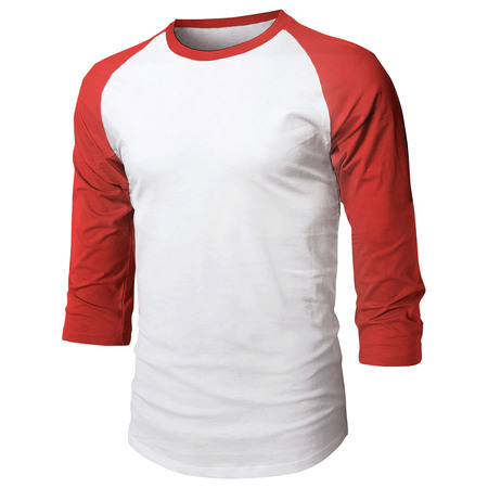 Ma Croix Mens Baseball Raglan 3/4 Sleeve Plain Jersey Team Uniform Athletic Sportswear T Shirt