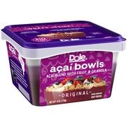 Dole Original Acai Bowls With Fruit and Granola 6 oz. Bowl