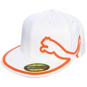 4c2f5630 Puma Monoline 210 Hat (White/Vibrant Orange, L/XL) Golf Cap