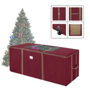 Elf Stor Red Rolling Christmas Tree Storage Duffel Bag W Window For 9 Ft