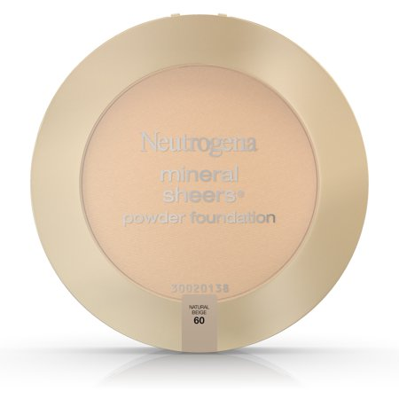 - Neutrogena Mineral Sheers Compact Powder Foundation Spf 20, Natural Beige 60,.34 Oz.