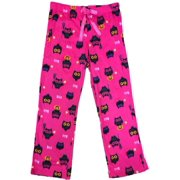 615f5857bc Womens Hot Pink Owl Fleece Sleep Pants Halloween Bird   Pumpkin Pajama  Bottoms