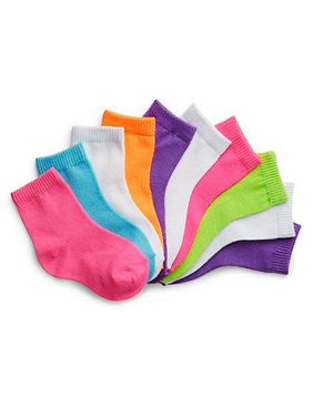 Hanes Baby Toddler Girl Ankle Socks - 10 Pack