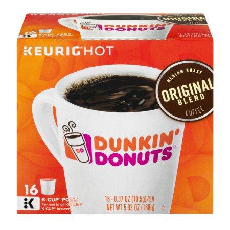 (4 Pack) Dunkin' Donuts Original Blend Coffee K-Cup Pods, Medium Roast, 16