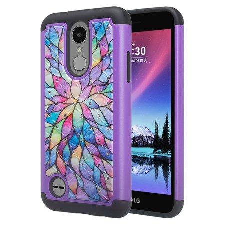 LG Aristo 2 Plus, LG Aristo 2,LG K8 Plus, LG K8 2018,LG Risio 3,LG Fortune 2,LG ,Rebel 3,LG Zone 4 case Protective Hybrid Diamond Soft Silicone Phone Case Cover for Girls Women (Zune Silicone Cover)