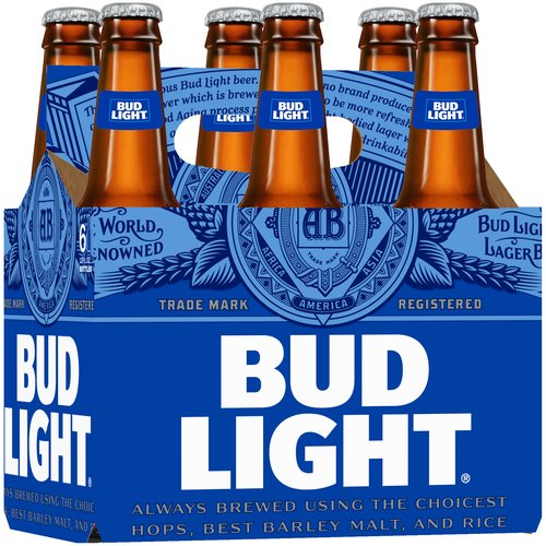 Bud Light Beer, 6 pack, 12 fl oz