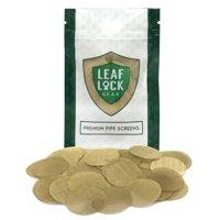 """100 Leaf Lock Gear Premium Brass Tobacco Pipe Screen Filters - 1"""" (1.0) ?"""