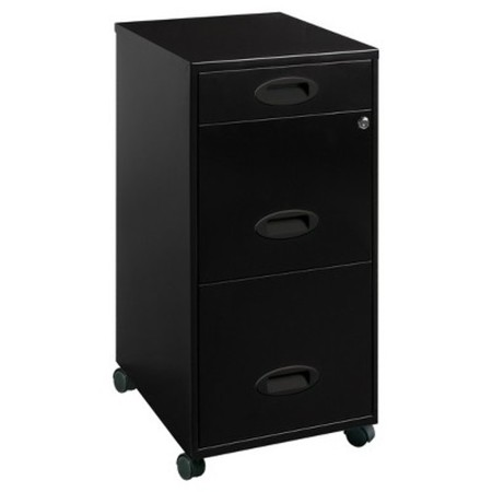 Lorell 3 Drawers Metal Vertical Lockable Filing Cabinet, -