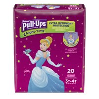 Pull-Ups Girls' Night-Time Training Pants, Size 3T/4T, 20 Pants