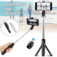 3-IN-1 Extendable Selfie Stick 7.5''-26.8'' + Bluetooth Remote Control Shutter + Handheld Monopod Tripod Mount for iPhone & Android Universal Smartphone