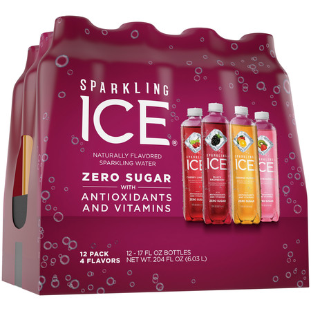 Sparkling Ice® Variety Pack, 17 Fl Oz, 12 Count (Black Raspberry, Cherry Limeade, Orange Mango, Kiwi