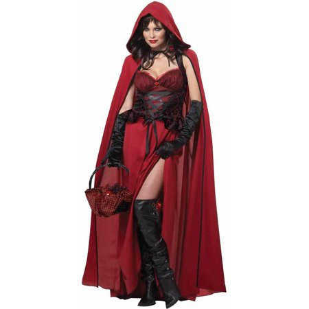 Dark Red Riding Hood Women's Adult Halloween Costume - Little Red Riding Hood Costume Child