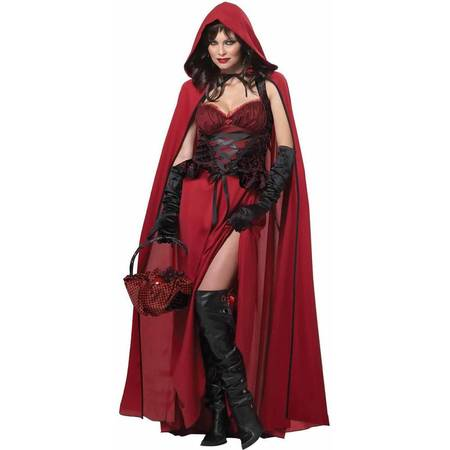 Dark Red Riding Hood Women's Adult Halloween Costume - Cheap Red Riding Hood Costume