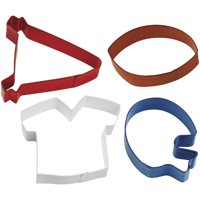 Wilton 4-Piece Metal Football Cookie Cutter Set