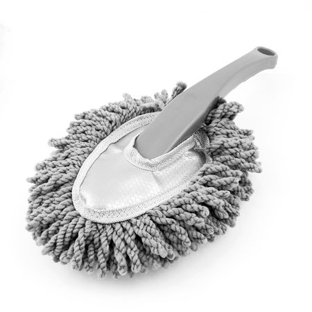 Auto Car Gray Microfiber Nonslip Handle Wax Drag Duster Dust Brush 32 x 14 x 5cm