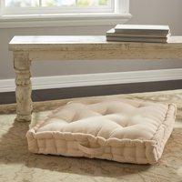 "Better Homes & Gardens Corduroy Tufted Square Floor Cushion, 24""x 24"" x 3"""