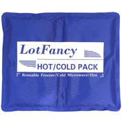 Reusable Gel Ice Pack for Hot Cold Therapy by LotFancy, Ideal for Injuries First Aid Back Shoulder Neck Head (11.5 x 9.5 Inches)