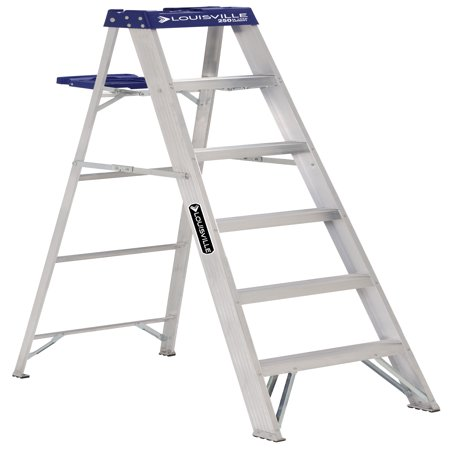 Louisville Ladder As2106 6 Ft Aluminum Step Ladder Type I 250 Lbs
