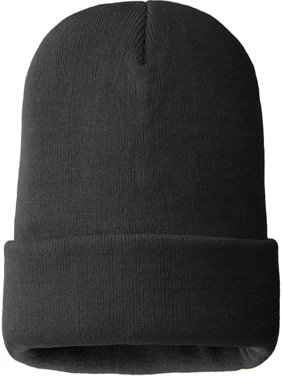 MO8250, Mens 100% Acrylic Hat, 40 gm 3M Thinsulate Lined, Black Color (One Size Fits Most)
